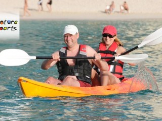 1 hour Kayaking including full day pool & beach access(Single Seater) for 150 only