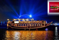 Dhow Cruise Dinner with transfer at AED 79