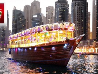 2 hr Dhow cruise dinner for AED 52