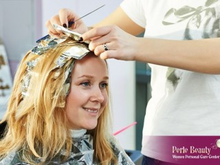Hair Color package at Perle Beauty center