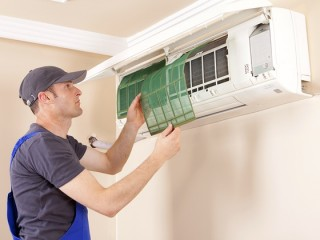 A/C servicing by Sabir Maintenance for AED 89