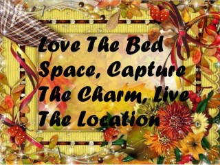 Love The Bed Space, Capture The Charm, Live The Location