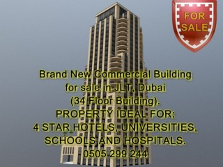 Brand New Commercial Building for Sale in JLT, Dubai (34 Floor Building)