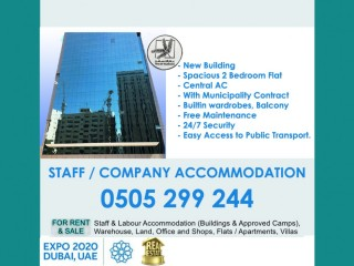 Staff Accommodations (Full Buildings, 1 BHK, 2 BHK, 3BHK) Central AC, New Building