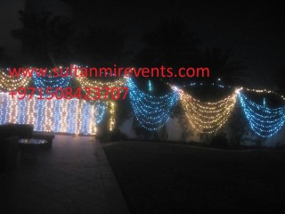 Decoration rental lights for weddings, parties, events