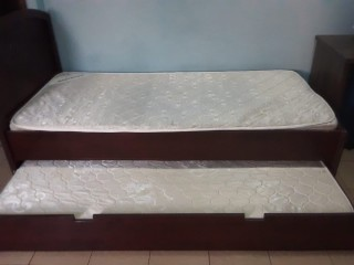 Expandable Single Bed with Matress, which will occupy only one bed's space
