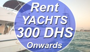 Yachts on Rents from 300 Dhs