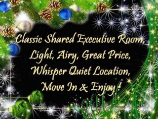 Classic Shared Executive Room, Light, Airy, Great Price !