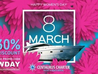 Luxury Yacht - Womens Day Offers in Dubai