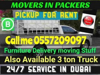 Movers in Dubai pickup Truck for rent 0557209097