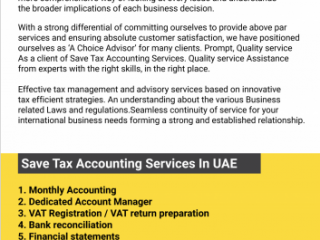 Accounting services monthly 500 aed