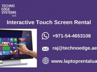 Why Interactive Touch Screen Rental is Important?