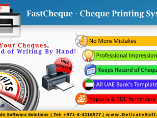 Cheque Printing Software with free printer