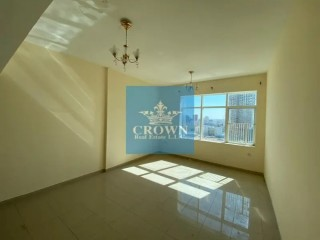 Spacious Studio Flat with full open view for Rent in Horizon Tower C - Ajman Downtown