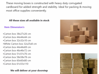Empty Carton Boxes and more