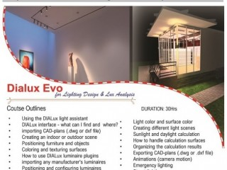 Learn to plan #Lighting with #Dialux Evo #online or #physical classes- #Training