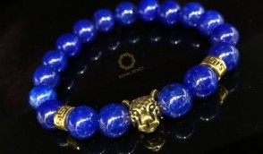 Lapis Lazuli with Golden Tiger Immunity Bracelet.