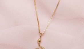 18K SOLID GOLD UNIQUE SNAKE NECKLACE