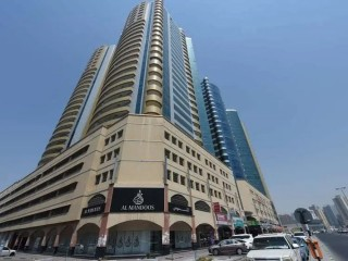 Studio Apartment with big balcony available for Rent in Horizon Tower, Ajman Downdown