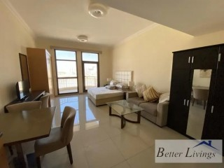 Spacious Fully Furnished Studio Apartment for Rent in Lincoln Park, Arjan, Dubai