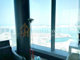Fully Furnished Sky Pod / Sea View / 2 BR + M