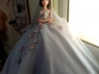Bridal outfit doll